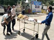 हाथों में सिलेंडर और मरीज लिए भटक रहे परिजन, अस्पताल पर ऑक्सीजन नहीं देने का आरोप|लखनऊ,Lucknow - Dainik Bhaskar