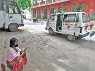 एंबुलेंस में पड़े-पड़े बेड खाली हाेने का इंतजार कर रहे, कोरोना मरीज|पटना,Patna - Dainik Bhaskar