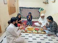 रोजेदारों ने किया रोजा इफ्तार, अल्लाह से कोरोना के खात्मे की मांगी दुआएं|नागौर,Nagaur - Dainik Bhaskar