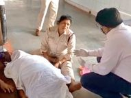 बीमार पति को लेकर आधी रात को अस्पताल पहुंचीं एसआई, पलंग नहीं तो फर्श पर लेटाना पड़ा; मौत|अशोकनगर,Ashoknagar - Dainik Bhaskar