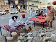 घर से लेकर आ रहे मंजे और बिस्तर, अस्पतालों के बाहर लगा परिजनों का डेरा|बठिंडा,Bathinda - Dainik Bhaskar