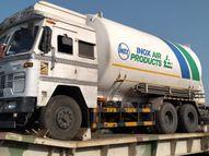 जामनगर से 40 टन लिक्विड ऑक्सीजन के 3 टैंकर पहुंचे कोटा, जयपुर व झालावाड़ भेजे जाएंगे 1-1 टैंकर|कोटा,Kota - Dainik Bhaskar