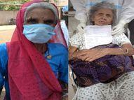 92 और 90 साल की महिलाएं स्वस्थ्य होकर लौटीं घर, ढोल नगाड़ों की धुन पर परिजन ने किया गया स्वागत|भिलाई,Bhilai - Dainik Bhaskar