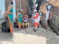 रेडक्रॉस की टीम ने काेराेना की चेन ताेड़ने के लिए शुरू किया जनसंपर्क अभियान|पानीपत,Panipat - Dainik Bhaskar
