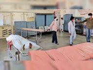 ट्रॉमा सेंटर में भर्ती महिला की मौत, 15 घंटे गैलरी में स्ट्रेचर पर रखा रहा शव|ग्वालियर,Gwalior - Dainik Bhaskar