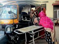 सामान्य वार्ड में भर्ती मरीज की मौत, जांच रिपोर्ट पॉजिटिव आई, ट्रैक्टर में ले गए शव|कोटा,Kota - Dainik Bhaskar