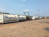 टाटानगर से 16 कंटेनरों में 120 टन लिक्विड ऑक्सीजन लेकर लखनऊ रवाना हुई ट्रेन जमशेदपुर,Jamshedpur - Dainik Bhaskar