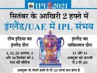सितंबर-अक्टूबर में टूर्नामेंट होना संभव, 15 साल बाद इंग्लैंड का पहला पाकिस्तान दौरा रद्द या टल सकता है|IPL 2021,IPL 2021 - Money Bhaskar