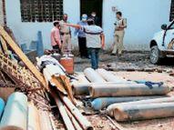 बर्मामाइंस में 7000 रुपए का ऑक्सीजन सिलेंडर, 30000 में बेच रहे थे|जमशेदपुर,Jamshedpur - Dainik Bhaskar