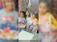 अपने बच्चों से वीडियो कॉल पर लाड, अभी मरीजों की सेवा है प्राथमिकता|रायगढ़,Raigarh - Dainik Bhaskar
