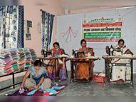 साढ़े सात लाख मास्क बनाने में जुटीं 621 जीविका दीदियां पटना,Patna - Dainik Bhaskar