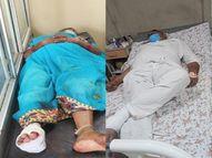 ट्रक की टक्कर से गिरे दंपती, घायल पति ने तुरंत पत्नी को हाथ पकड़कर लिया, नहीं तो ऊपर से गुजर जाता पहिया|ग्वालियर,Gwalior - Dainik Bhaskar