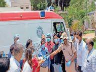 कोविड मरीजों के लिए मणिपाल मेडिकल कॉलेज ने स्वास्थ्य विभाग को दी, दो एंबुलेंस जमशेदपुर,Jamshedpur - Dainik Bhaskar