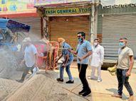जनसेवकों की तीन टीमों ने तीन वार्डों के घरों को किया सेनिटाइज|अम्बाला,Ambala - Dainik Bhaskar