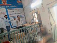 संक्रमण रोकने के लिए बनाया भाप केंद्र, जपं सीईओ ने सुबह-शाम भाप लेने की सलाह दी|खंडवा,Khandwa - Dainik Bhaskar