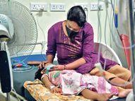 मदर्स डे के दिन ही बच्ची का बर्थडे, मां चाह रही कोरोना रिकवरी गिफ्ट|रांची,Ranchi - Dainik Bhaskar