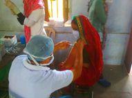 पिछले चार दिनों से इंतजार कर रहे थे युवा, वैक्सीन आते ही बूथ पर लगने लगी लाइनें; युवाओं ने बताया बेहतर हुई व्यवस्था|सीकर,Sikar - Dainik Bhaskar