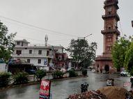 धौलपुर में आंधी के बाद तेज बारिश, भरतपुर में तूफानी हवा से बिजली के पोल-पेड़ गिरे, कई शहर बूंदाबांदी से तरबतर हुए|जयपुर,Jaipur - Dainik Bhaskar