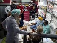 GST फाइल करने के लिए सिर्फ कागज लेने दुकान पर पहुंचा व्यापारी, पुलिस वालों ने बाहर निकालकार मारे थप्पड़; महिला से भी की बदसलूकी कोरोना - वैक्सीनेशन,Coronavirus - Dainik Bhaskar