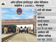 AIIMS गोरखपुर में फैकल्टी 'ग्रुप- ए' के 127 पदों पर भर्ती के लिए करें अप्लाई, 8 जून तक जारी रहेगी आवेदन प्रक्रिया|करिअर,Career - Money Bhaskar