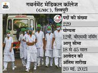 गवर्नमेंट मेडिकल कॉलेज ने स्टाफ नर्स के 229 पदों पर निकाली भर्ती, 20 मई आवेदन की आखिरी तारीख|करिअर,Career - Money Bhaskar