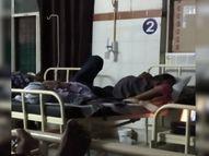 यहां मुफ्त में मिलता है संक्रमण; एक ही बेड पर लेटते हैं कोविड पेशेंट और परिजन, साथ में खाते हैं खाना और मोबाइल पर खेलते हैं लूडो|ग्वालियर,Gwalior - Money Bhaskar