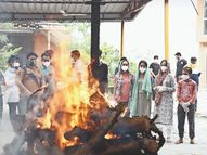 सऊदी अरब में मुस्लिम रीति से दफनाए गए संजीव शर्मा का शव ऊना पहुंचा, बेटियों ने दी मुखाग्नि|शिमला,Shimla - Dainik Bhaskar