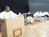 मंत्री बोले - जिले के सभी 312 ग्राम पंचायतों में कोविड केयर सेंटर बनाए, यहां मरीजों के लिए 8 हजार से अधिक बिस्तरों की व्यवस्था|इंदौर,Indore - Money Bhaskar