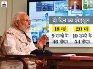 PM मोदी 18 और 20 मई को 19 राज्यों के 100 DM के साथ मीटिंग करेंगे, मुख्यमंत्री भी होंगे शामिल|देश,National - Dainik Bhaskar