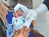 जन्म लेते ही कोरोना जांच से सामना, शुक्र है... रिपोर्ट निगेटिव, माँ है संक्रमित|ग्वालियर,Gwalior - Money Bhaskar