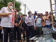 हिंसा प्रभावित इलाके में गए धनखड़ को भीड़ ने काले झंडे दिखाए, राज्यपाल कार से बाहर आकर पुलिस पर बरसे|देश,National - Dainik Bhaskar