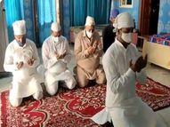 घर में पढ़ी गई नमाज, पकवान बनाकर मोबाइल से दी एक दूसरे को मुबारकबाद, आखातीज पर मंदिरों मेंं ठाकुरजी के किया चंदन का श्रृंगार|सीकर,Sikar - Dainik Bhaskar