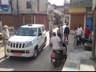 दुकान बंद कर बाइक से लौट रहे व्यापारी पर किया स्कॉर्पियों में सवार बदमाशों ने हमला, हेलमेट पहना था इसलिए बच गई जान|सीकर,Sikar - Dainik Bhaskar