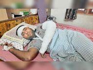कार में आए बदमाशाें ने दुकान से घर जा रहे व्यापारी पर बेसबॉल बैट से हमला किया, 16 लाख रुपए लूटे|सीकर,Sikar - Dainik Bhaskar