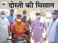 दोस्त की मां का ऑक्सीजन लेवल नीचे जा रहा था; 8 घंटे में 420 किमी दूर चंडीगढ़ से बाइक पर रेमडेसिविर लेकर अलवर पहुंचा साथी|राजस्थान,Rajasthan - Dainik Bhaskar