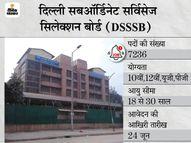 DSSSB ने विभिन्न 7236 पदों पर भर्ती के लिए मांगे आवेदन, 25 मई से शुरू होगी एप्लीकेशन प्रोसेस|करिअर,Career - Dainik Bhaskar