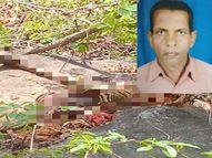 पुलिस ने घटनास्थल से बरामद की जहर की शीशी; परिजनों ने कपड़े, थैले से की पहचान, 25 अप्रैल की सुबह घर से निकला था|बालोद,Balod - Dainik Bhaskar