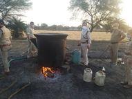 जमीन के अंदर टैंक में बना रहे थे शराब, आबकारी विभाग ने21 लाख से ज्यादा की शराब जब्त कर 9 केस दर्ज किए भोपाल,Bhopal - Dainik Bhaskar