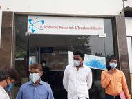 111 सेव लाइफ नर्सिंग होम के संचालक डाॅ. ओपी आनंद को आया गुस्सा, बोले- मरीजों का लिहाज कर गया नहीं तो ऐसे मंत्री और जांच टीम को दौड़ा-दौड़ाकर पीटता|जमशेदपुर,Jamshedpur - Dainik Bhaskar