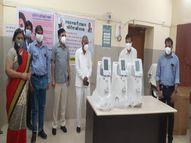 बाड़मेर को मिले 44 ऑक्सीजन कंसंट्रेटर, विधायक व कलेक्टर की अपील का असर|बाड़मेर,Barmer - Dainik Bhaskar