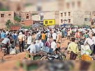 ग्रामीण क्षेत्रों में सब्जी मंडियों में भीड़, हाट बाजार भी लग रहे|भरतपुर,Bharatpur - Dainik Bhaskar