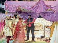 सेक्टर-2 में ब्राह्मण सभा ने एक जोड़े का कराया विवाह, रिसाली में सफाई मित्रों का किया सम्मान|भिलाई,Bhilai - Dainik Bhaskar