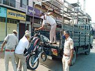 वीकेंड लॉकडाउन में सख्ती, बेवजह बाहर घूमने वालों पर कार्रवाई; वाहन भी जब्त किए|राजस्थान,Rajasthan - Dainik Bhaskar