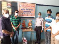 सांवली के कोविड अस्पताल में संक्रमित के साथ आने वाले परिजनों के निशुल्क ठहरने और खाने की व्यवस्था की गई|सीकर,Sikar - Dainik Bhaskar