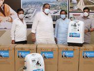 चेतन्य काश्यप फाउंडेशन ने नामली और बिलपांक को 10 लाख रुपए की 5-5 ऑक्सीजन कंसंट्रेटर मशीन दी रतलाम,Ratlam - Dainik Bhaskar