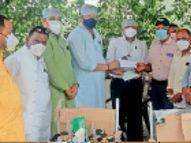 कोरोना काल में ऑक्सीजन प्लांट की मदद के लिए लोग आगे आए रतलाम,Ratlam - Dainik Bhaskar