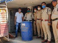 अवैध शराब बनाने के लिए ले जा रहे थे 200 लीटर ओपी पुलिस देखकर भागे, 30 किमी पीछा कर दोनों को दबोचा भिंड,Bhind - Dainik Bhaskar