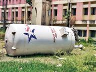 ऑक्सीजन काे एसकेएमसीएच में मची थी अफरातफरी पुलिस ने 45 मिनट तक रोके रखी सिलेंडर लाेड गाड़ी|मुजफ्फरपुर,Muzaffarpur - Dainik Bhaskar