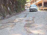 बरसात को बचे सिर्फ 30 दिन, अभी 30 फीसदी भी नहीं हुई सड़काें की टारिंग|शिमला,Shimla - Dainik Bhaskar