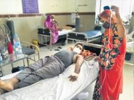जयपुर में सांसद के फोन पर भी नहीं मिल पाया आईसीयू बेड, जोधपुर में ग्लूकोज चढ़ाने के लिए स्टैंड नहीं, परिजन हाथों में पकड़ रहे ड्रिप|देश,National - Dainik Bhaskar